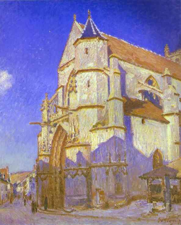 alfred sisley church at moret Choose Wall Paint Colors Based on Fine Art