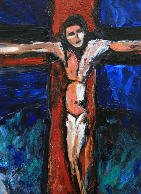 Baker-crucifixion-style-of-rouault-2013