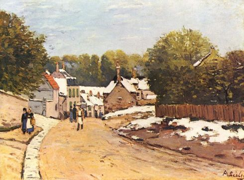 Alfred-Sisley-Early-Snow-in-Louveciennes-1870