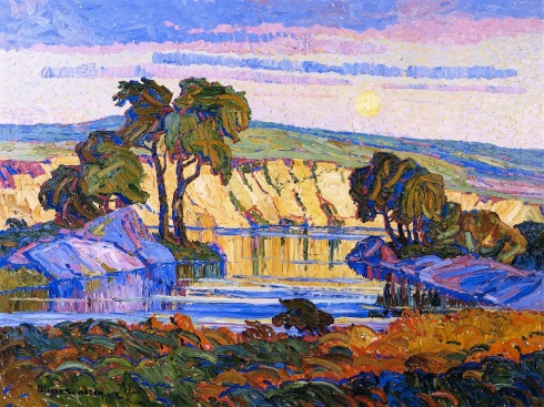 sandzen-creek-at-moonrise-1921