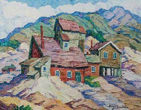 sandzen-mining-town