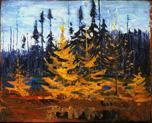 Oil on wood 22.2 x 27.3 cm